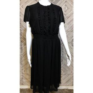 torrid 00 Black ruffle fully lined dress